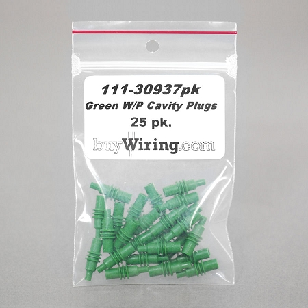 25 pk. - Green W/P Cavity Plugs