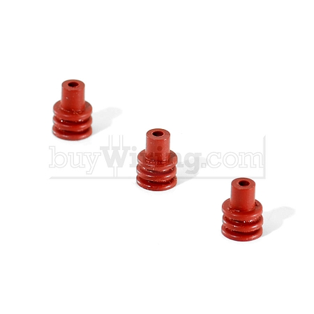 100 pk. - Dk. Red M/P Cable Seals